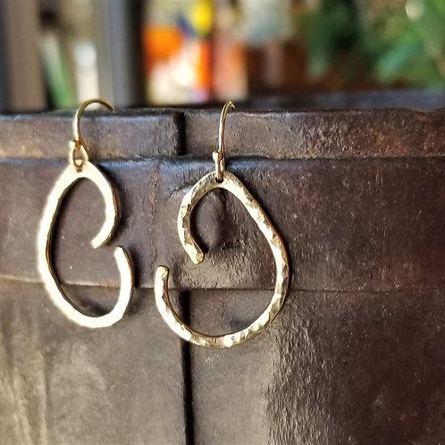 Karen Wright Jewelry Gold Filled Swirl Earrings