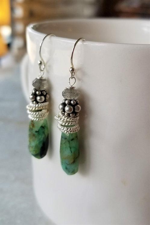 Luna Mar Peruvian Opal Earrings