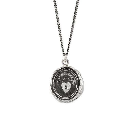 Pyrrha Heart Lock Sterling Silver Talisman Necklace