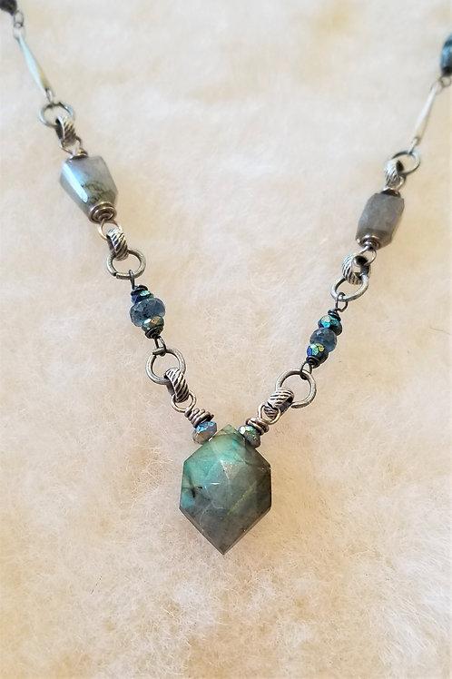 Joy of Wings Delicate Labradorite Necklace