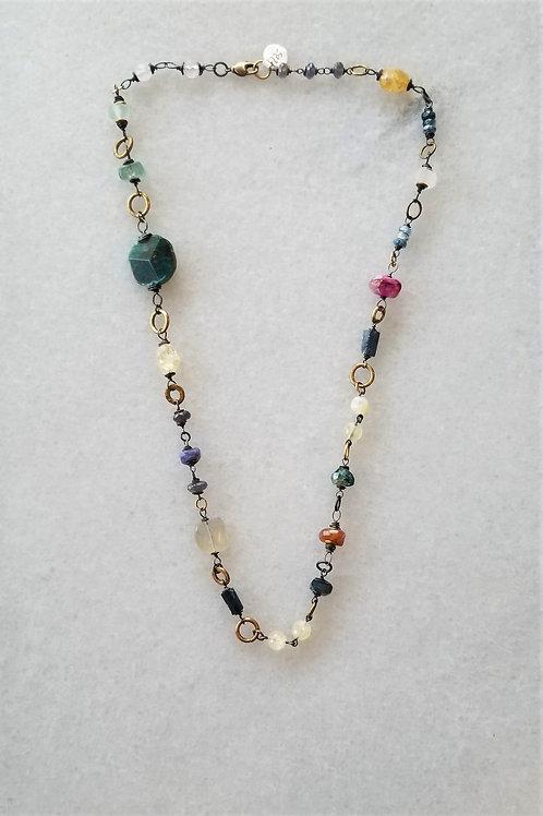 Joy of Wings Multi Stone Necklace