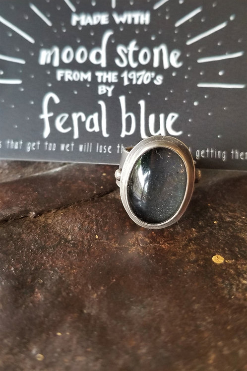 Feral Blue Vintage Sterling Silver Mood Ring