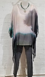 Cocoon House Silk Blouse, XCVI Pants, Cannon Ashby Necklace