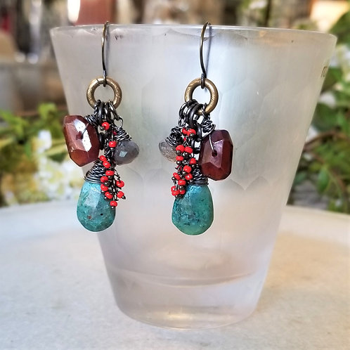 Joy of Wings Multi Stone Earrings