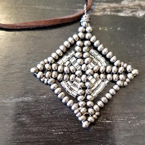 Joy of Wings Handbeaded Adjustable Leather Necklace