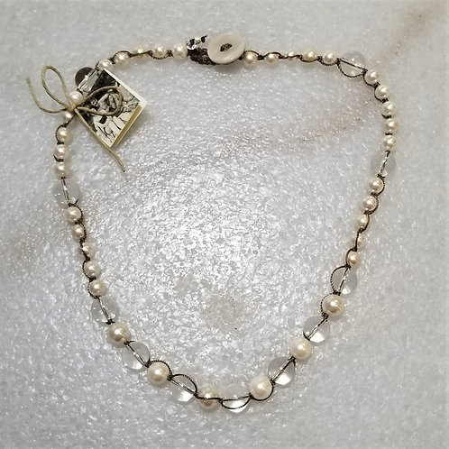 The Mermaid's Pearl Short Shell Pearl & Crystal Necklace