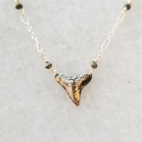 ObscurO Sterling Silver Shark Tooth Necklace