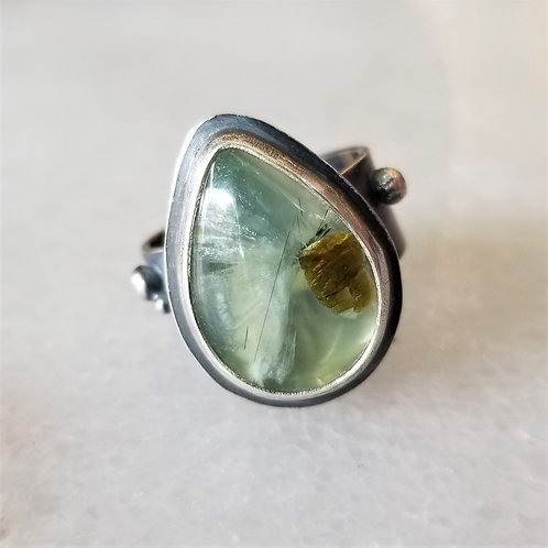 FeralBlue Sterling Silver Prehnite Ring