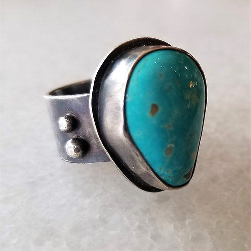 Feral Blue Turquoise Ring