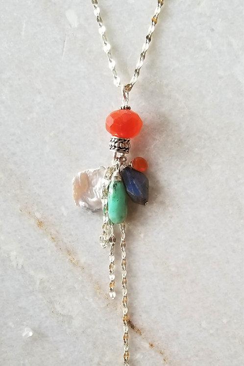 Luna Mar Carnelian Double Necklace