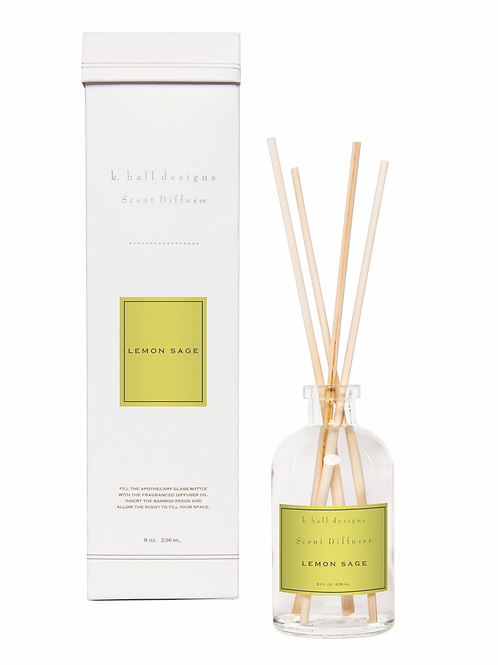 K Hall Studio Lemon Sage Diffuser Kit