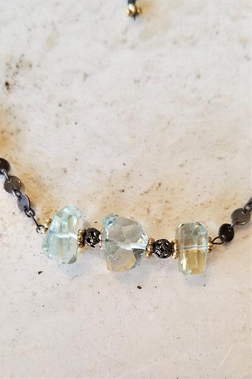 Luna Mar Green Amethyst Necklace