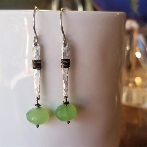 ObscurO Chrysoprase River Sticks Earrings