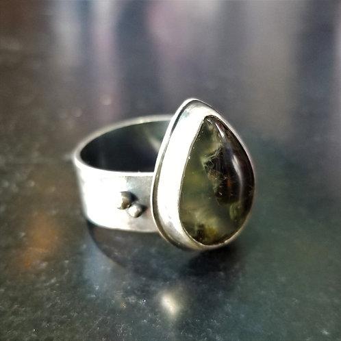 Feral Blue Prehnite Ring