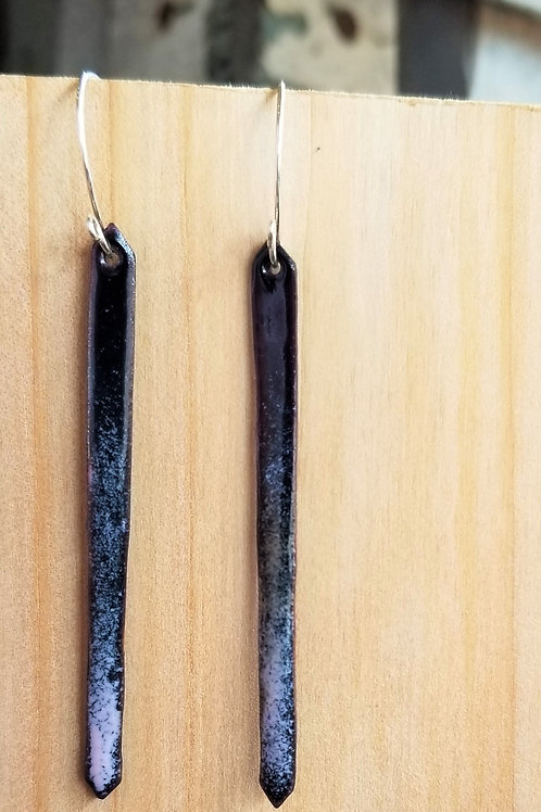 Sam Made Goodies Black/Petal Matchstick Earrings