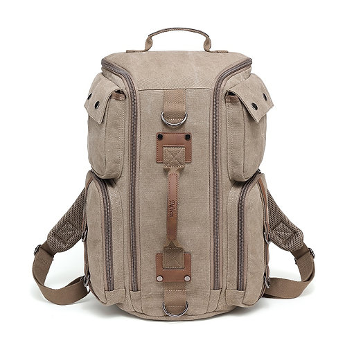 DaVan Multifunctional Canvas Duffel Bag- Brown