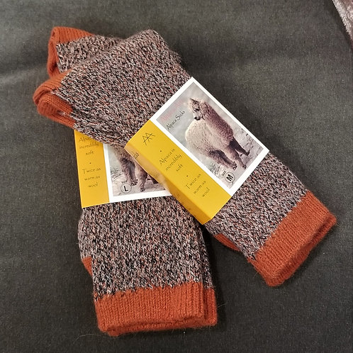 Tey Art Quattro Alpaca Socks- Orange Zest