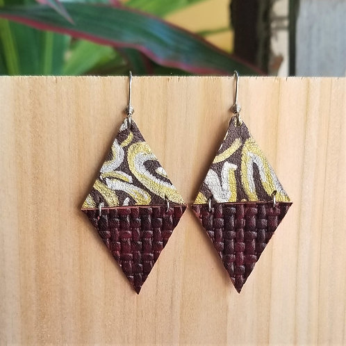 Betty Lou Leather Geo Earrings