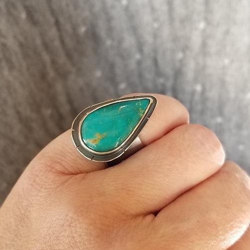 Feral Blue Kingman Turquoise Ring