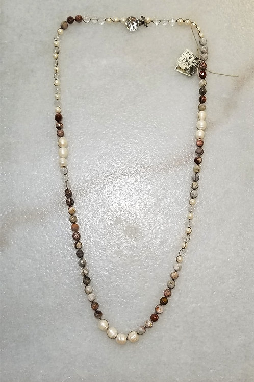 The Mermaid's Pearl Jasper Necklace