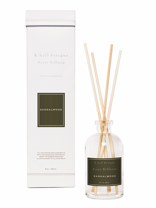 K Hall Studio Sandalwood Diffuser Kit
