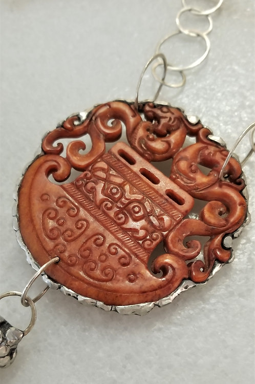 ObscurO Carved Jade Necklace
