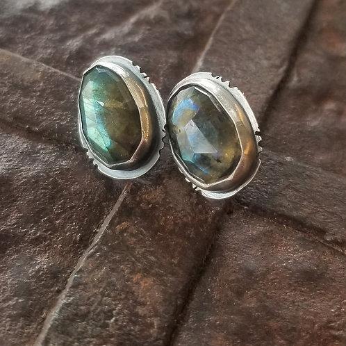 Feral Blue Labradorite Stud Earrings