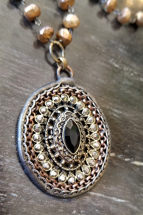 Joy of WingsGold Labradorite Necklace with Soldered Pendant