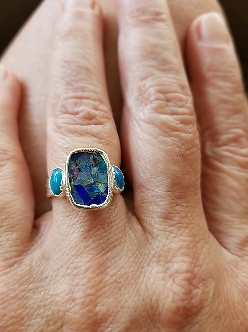 C&R Designs Mosaic Opal Ring