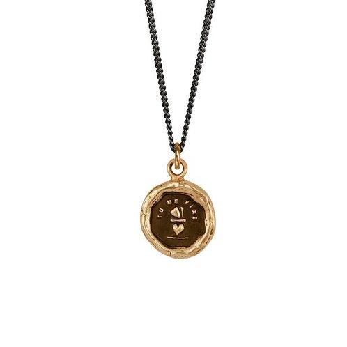 Pyrrha You Complete Me Bronze Talisman Necklace