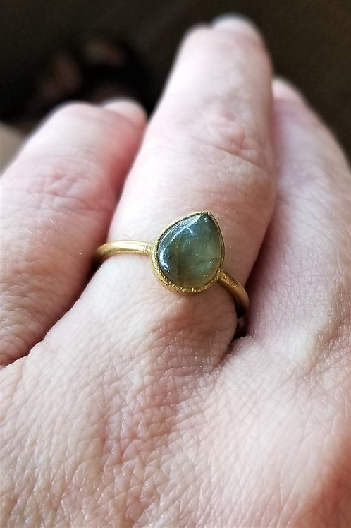 C&R Designs Gold Plated Labradorite Ring