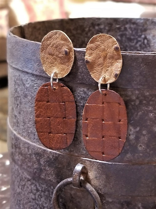Betty Lou Leather Earrings