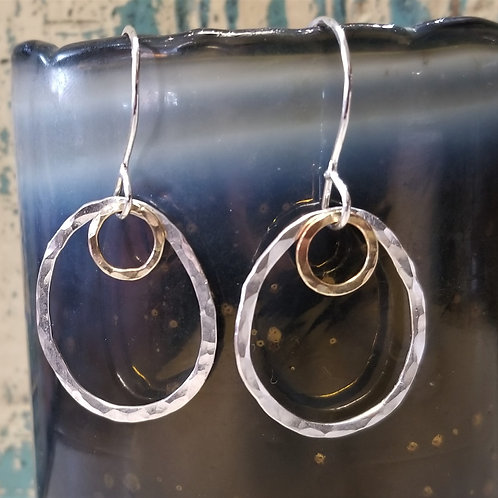 ObscurO Silver & Brass Earrings