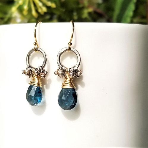 Austin Titus Studio London Blue Topaz Earrings