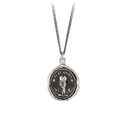 Pyrrha Sterling Silver First Responder Talisman Necklace