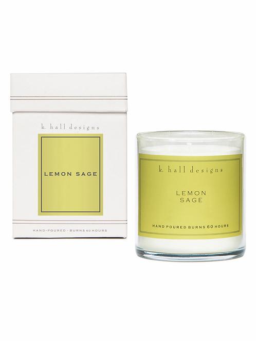 K Hall Studio Lemon Sage Jar Candle