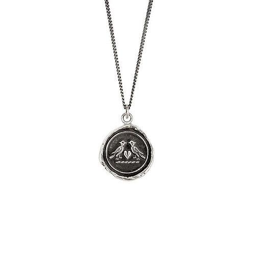 Pyrrha Love Birds Sterling Silver Talisman Necklace