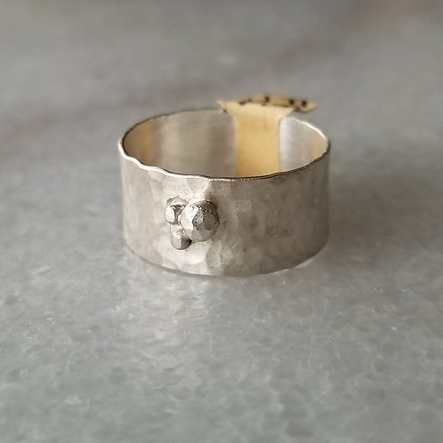 Feral Blue Sterling Silver Constellation Cuff Ring