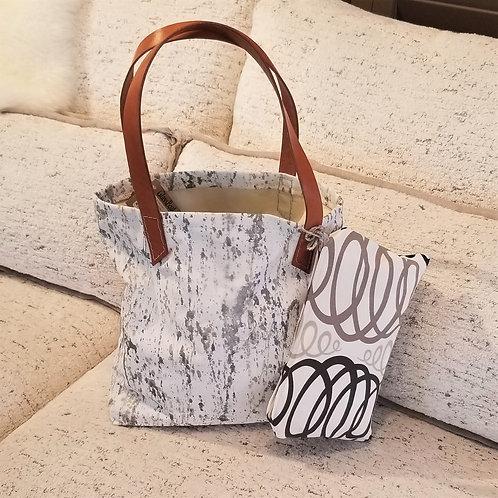 Melissa Elliott Hand Painted Canvas Bag w/Pouch