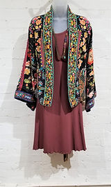 Johnny Was Reversible Silk Kimono, Angelrox Dress, Joy of Wings Necklace