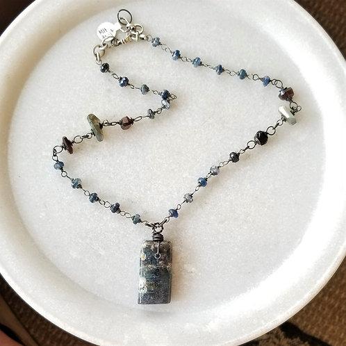 Joy of Wings Raw Kyanite Necklace