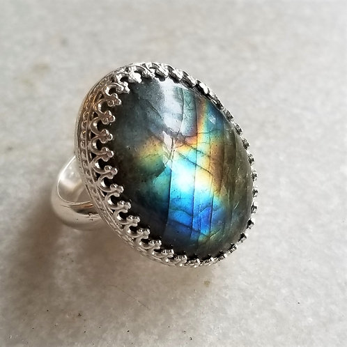 ObscurO Jewelry Labradorite Ring