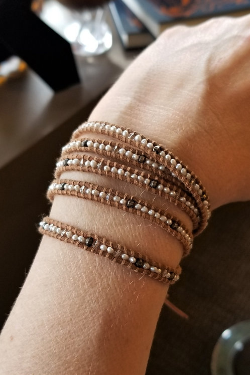 ChanLuu 5 Wrap Pearl Bracelet