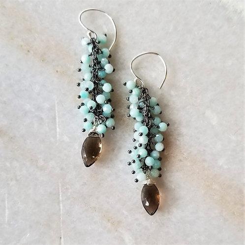 Luna Mar Apatite & Smokey Topaz Earrings