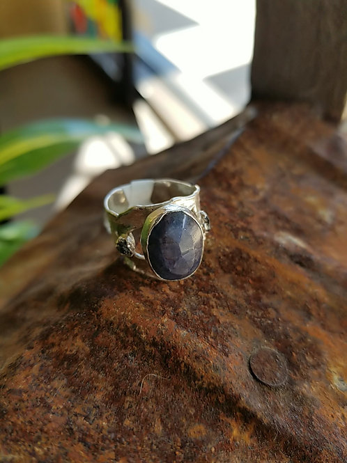 C&R Designs Labradorite Fine Silver Ring