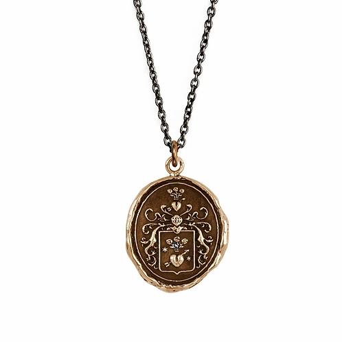 Pyrrha True Love Bronze Talisman Necklace