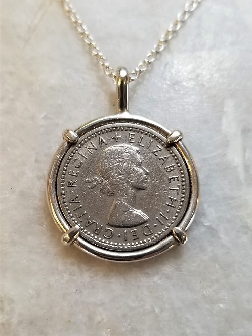 Karen Wright UK 6 pence Necklace