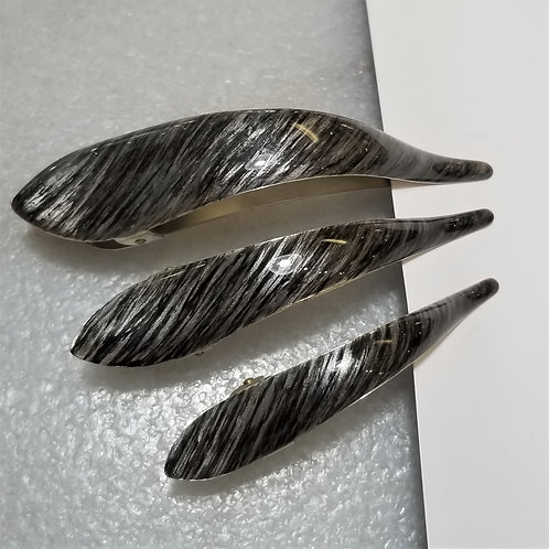 Ficcare Maximus Hair Clip in Silver Strike