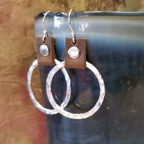 ObscurO Sterling and Leather Earrings