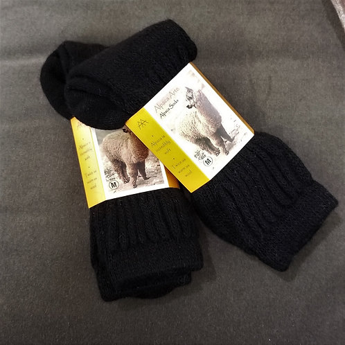 Tey Art Solid Alpaca Socks- Black